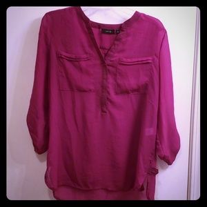 Apt 9 Fuchsia blouse, M